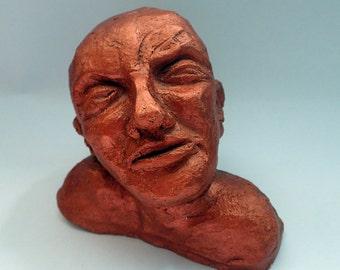 Ceramic head sculpture