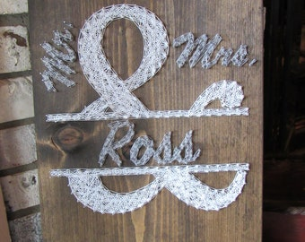 Ampersand Mr. and Mrs. String Art