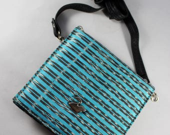 Handmade Leather Rebozo Wallet Purse-Woven Cotton-Huipil-Gift Mexican Pouch-Cartera-Trendy Accessories-Gypsy-Frida Kahlo-Textile-Ethnic Art