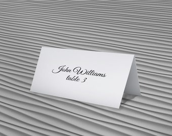 Place Cards - Editable Place Card - Place Card Template - Wedding Place Cards - Wedding Stationery