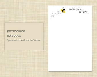 Teacher Notepad - Bee - teacher gift