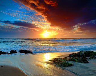 Sunrise / One the Beach 8 x 10 / 8x10 GLOSSY Photo Picture