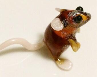 Mouse gift Handblown glass miniature