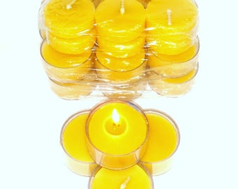 50 pack beeswax candles 100% organic hand made