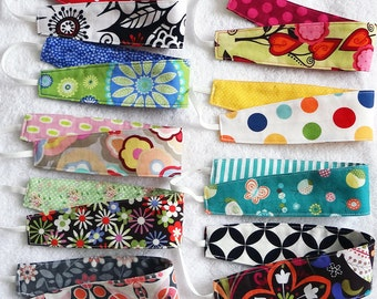 Set of 3 reversible cotton headbands, baby headband, baby hair wrap, toddler headband, girl party favors, stocking stuffers, bulk headbands