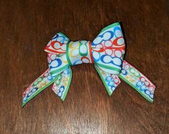 Coach Inspired Ribbon Bow Hair Clip Custom Handmade
