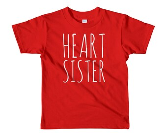 Heart Sister // Youth T-Shirt 2-6yrs // CHD Awareness