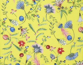 Fabric flowers, liberty, Temptation Meadow Tana Lawn Cotton