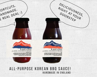 DUO DEAL! Korean All-Purpose Mother (Soy & Spicy) Sauce . Handmade in England. No Shortcuts.