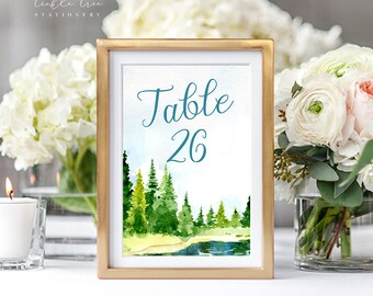 Lakeside Love - Table Numbers (Style 13724)