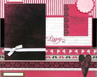 Love and Cherish - Premade Scrapbook Page