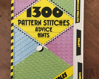 Mon Tricot Knitting Dictionary 1300 pattern Stitches, advice, hints, comprehensive Pattern Book, Fair Isle, Aran, Jacquard, cables