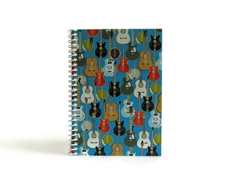 Rockin Guitars Notebook A6 Spiral Bound