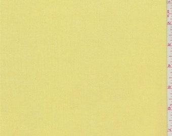 Bright Lemon Yellow Rayon Gauze, Fabric By The Yard