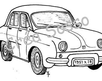 key design car old Renault Dauphine