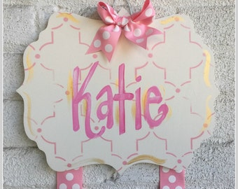 Hair Bow Holder, Hand-Painted Personalization, Monogram Bow Holder, Clip Holder, Bow Organizer, Bow Holder, Personalized Bow Holder