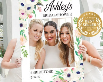 Bridal Shower Photo Props - Graduation Party Decorations - Anemone - DIGITAL FILE - Photo Prop Frame - Wedding - Printed Option Available