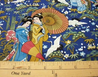 Asian Ladies Fabric New By The Fat Quarter
