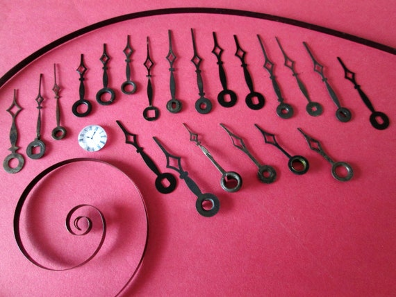 21 Assorted Small Diamond Design Steel Clock Hands for your Clock Projects  - Jewelry Making - Steampunk Art