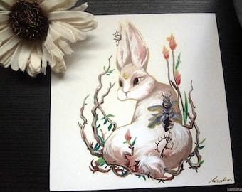 Rabbit Print Hase 12.5 x 12.5