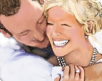 Customized Wedding Digital Painting from Photograph