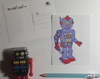 Robot Cowboy Postcards: Pack of Five