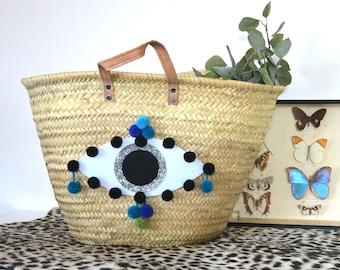 Eye blue Beach basket
