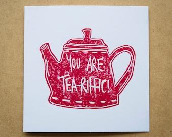 Tea-riffic Greeting Card