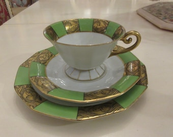 GERMANY BAENSCH LETTIN Teacup Saucer and Plate