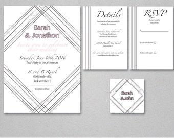 Geometric Simple Invitation Suite