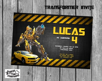 Transformers Printable Birthday Party Package Bumblebee