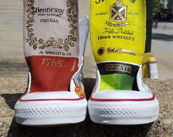 Custom Converse Liquor Bottles Sneakers