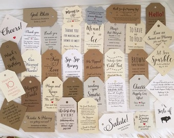 Custom gift tags etsy custom tags favor tag gift tag christmas bridal shower tag personalized negle Image collections