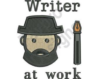 Writer At Work - Machine Embroidery Design