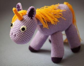 Unicorn/Crochet amigurumi/Stuffed horse/Plush/Stuffed toy/Child gift/Crochet pony/Sparkles unicorn/magical nursery/amigurumi/animal