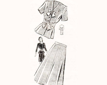 40s Peplum Skirt Suit pattern Hourglass pattern vintage 30-25.5-33 Peplum Jacket Gored Skirt pattern Mail Order pattern Sue Birnett 8503