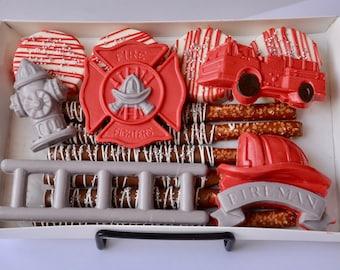 Firefighter, Chocolate Firefighter Gift, Firefighter Wife, Fireman, Thin Red Line, Custom Firefighter Gift, Firefighter Birthday, Firemen