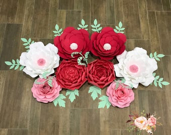 Exact Set as shown - 8 Paper Flowers