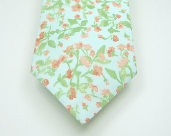 Mint Necktie Mint and Blush Necktie Wedding Neckties Mint Neckties Mint Tie Mens Neckties Custom Neckties Mens Neckties
