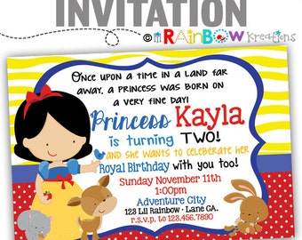409: DIY - Pretty Princess 5 Party Invitation Or Thank You Card