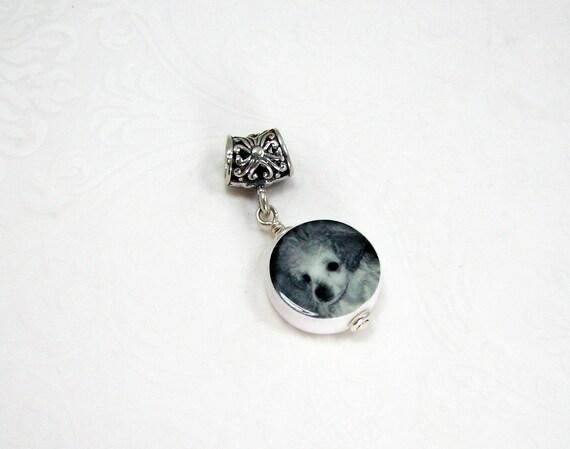 A Photo Charm on a Silver Filigree Large Hole Bail - Mini - C8f