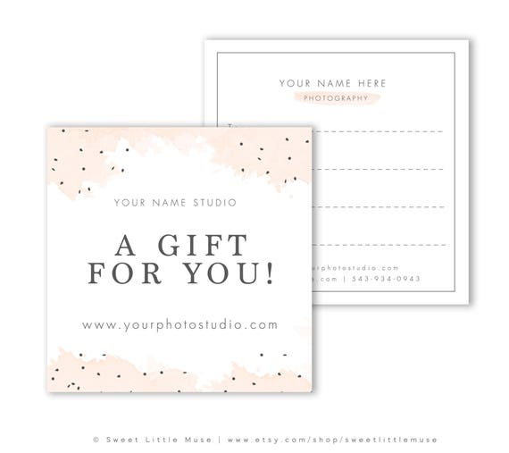 Photography Gift Card Template Gift Certificate template