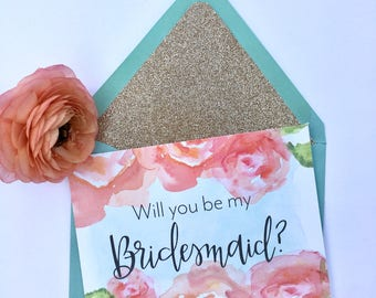 Will you be my bridesmaid card, will you be my bridesmaid, bridesmaid card, wedding card