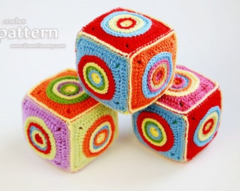Crochet Pattern - Crochet Soft Toy Cube - (Pattern No. 069) - INSTANT DIGITAL DOWNLOAD
