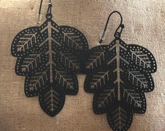 Dangle Earrings / Statement Earrings / Boho Earrings / Bohemain Earrings / Lightweight Earrings / Hippy / Gypsy / Tribal / Black Earrings /