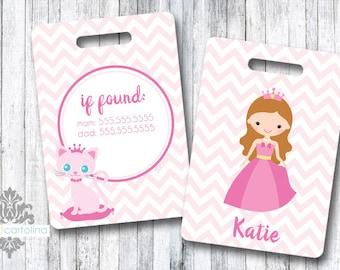 Luggage Tag | Personalized Bag/Luggage Tag | Kids Backpack Tag | Diaper Bag Tag | Custom Bag Tag | Travel Accessory | Princess Theme