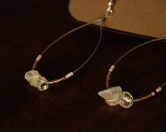 Citrine Teardrop Hoop Earrings