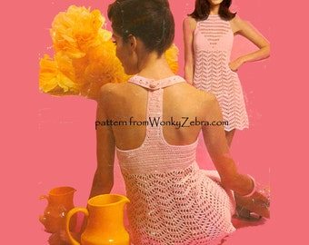Discotheque Crochet Dress Pattern PDF 639 from WonkyZebra