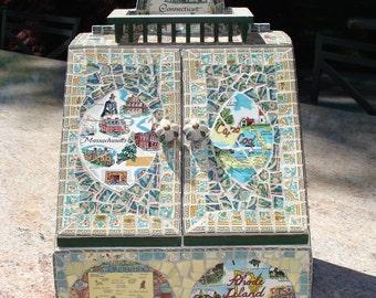 Mosaic  Mail Holder Massachusetts