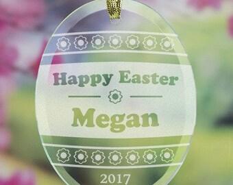 Easter Egg Engraved Suncatcher, glass, ornament, egg, easter, spring, happy, home decor, spring decor, easter gift, oval -gfy832894